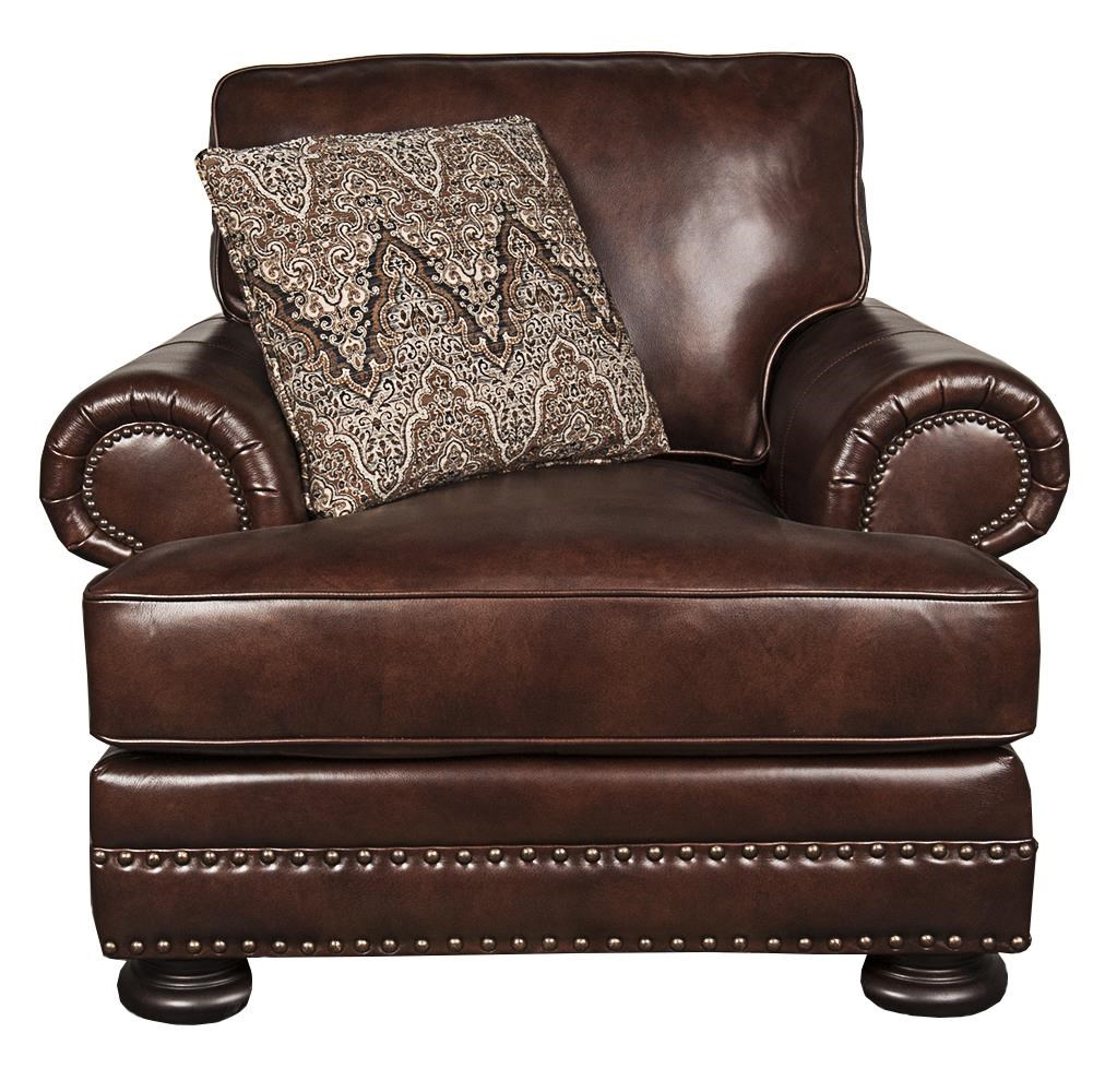 Foster Foster 100% Leather Chair by Bernhardt at Morris Home