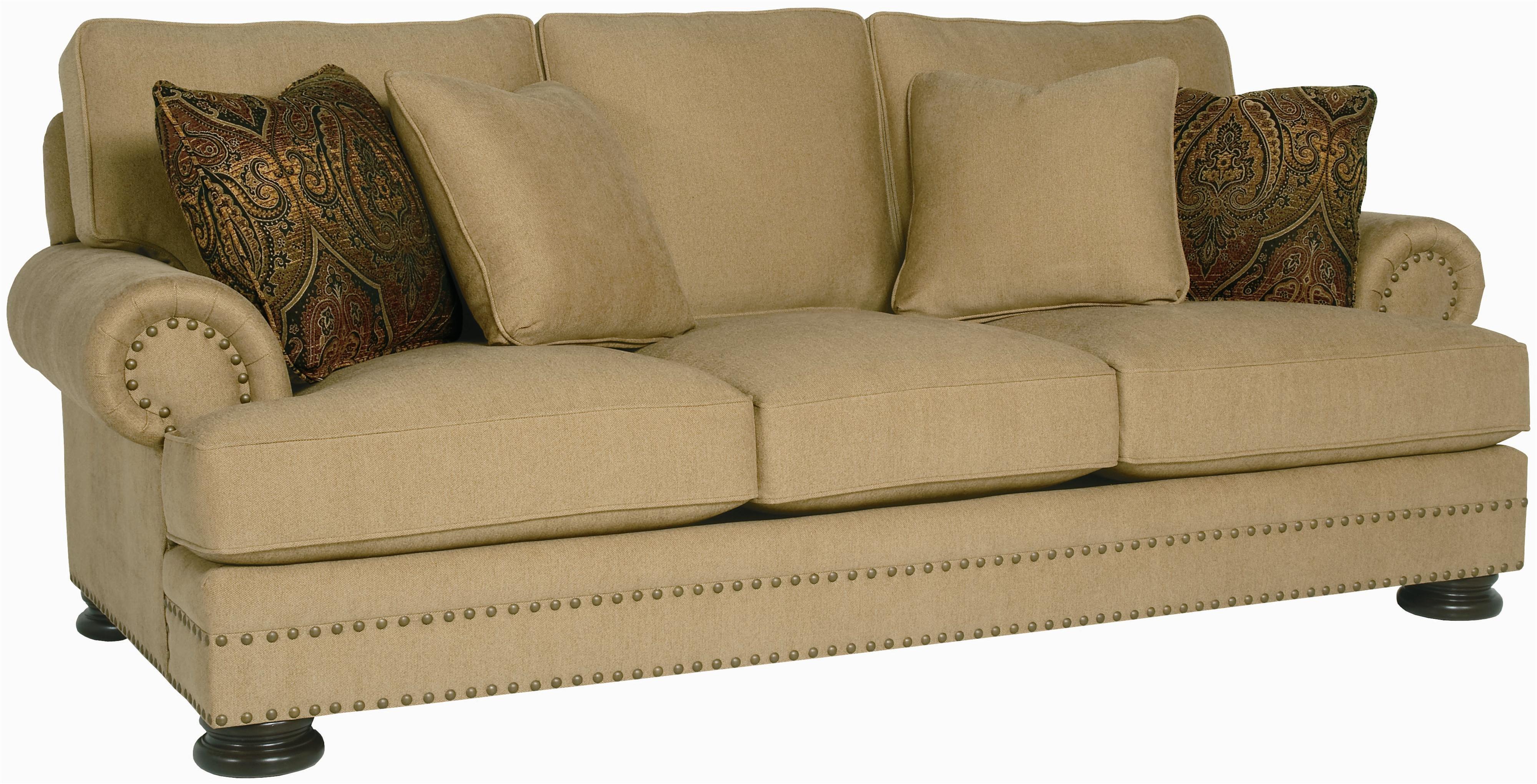 Bernhardt Foster Stationary Sofa with Nailhead Trim Wayside