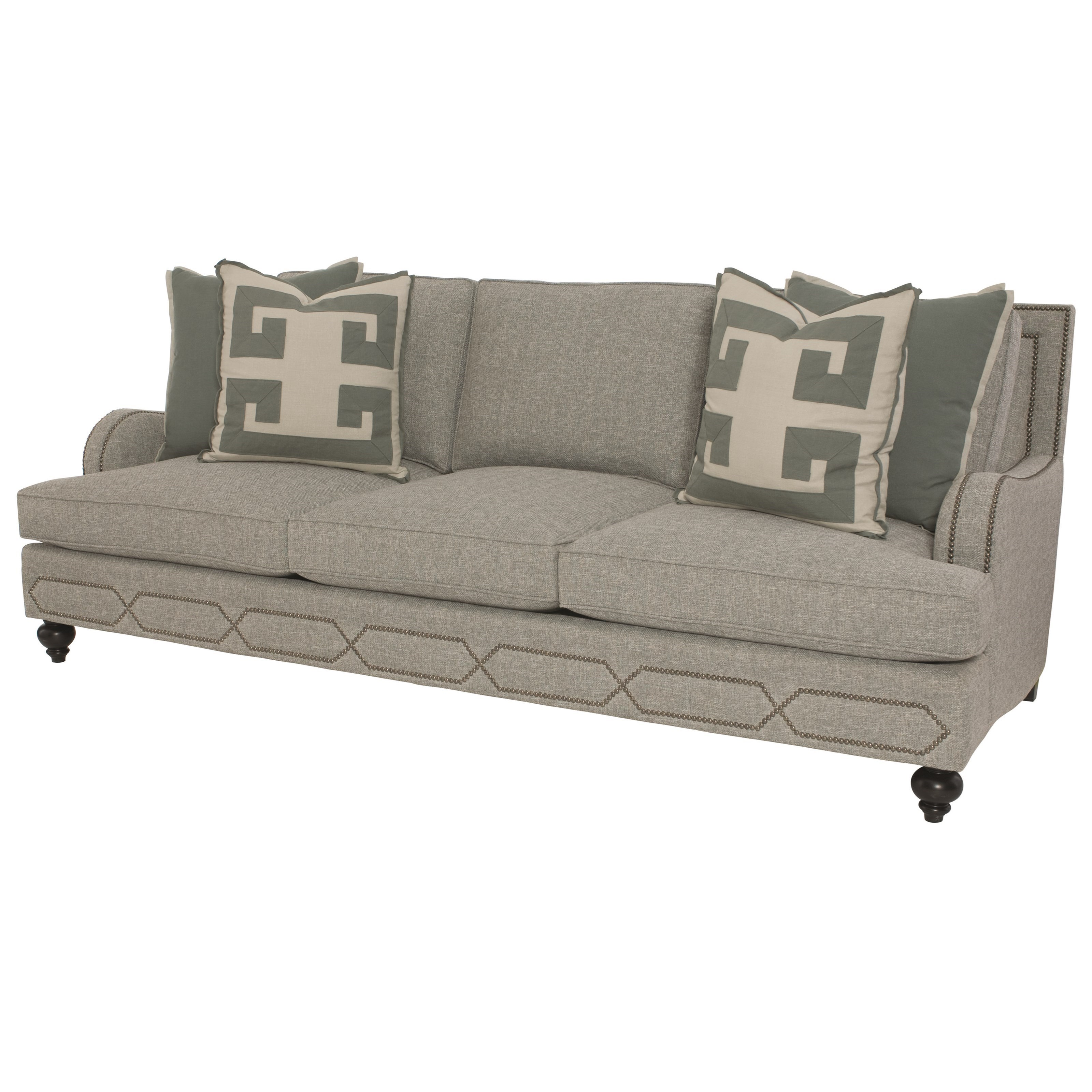 Bernhardt Franklin Sofa With Transitional Style Reeds Furniture Sofa
