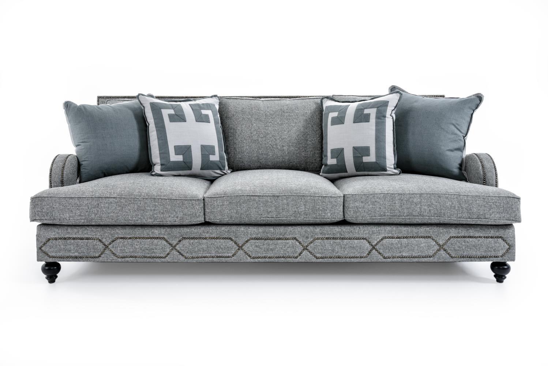 Bernhardt Franklin Sofa - Item Number: B4827A GRAY