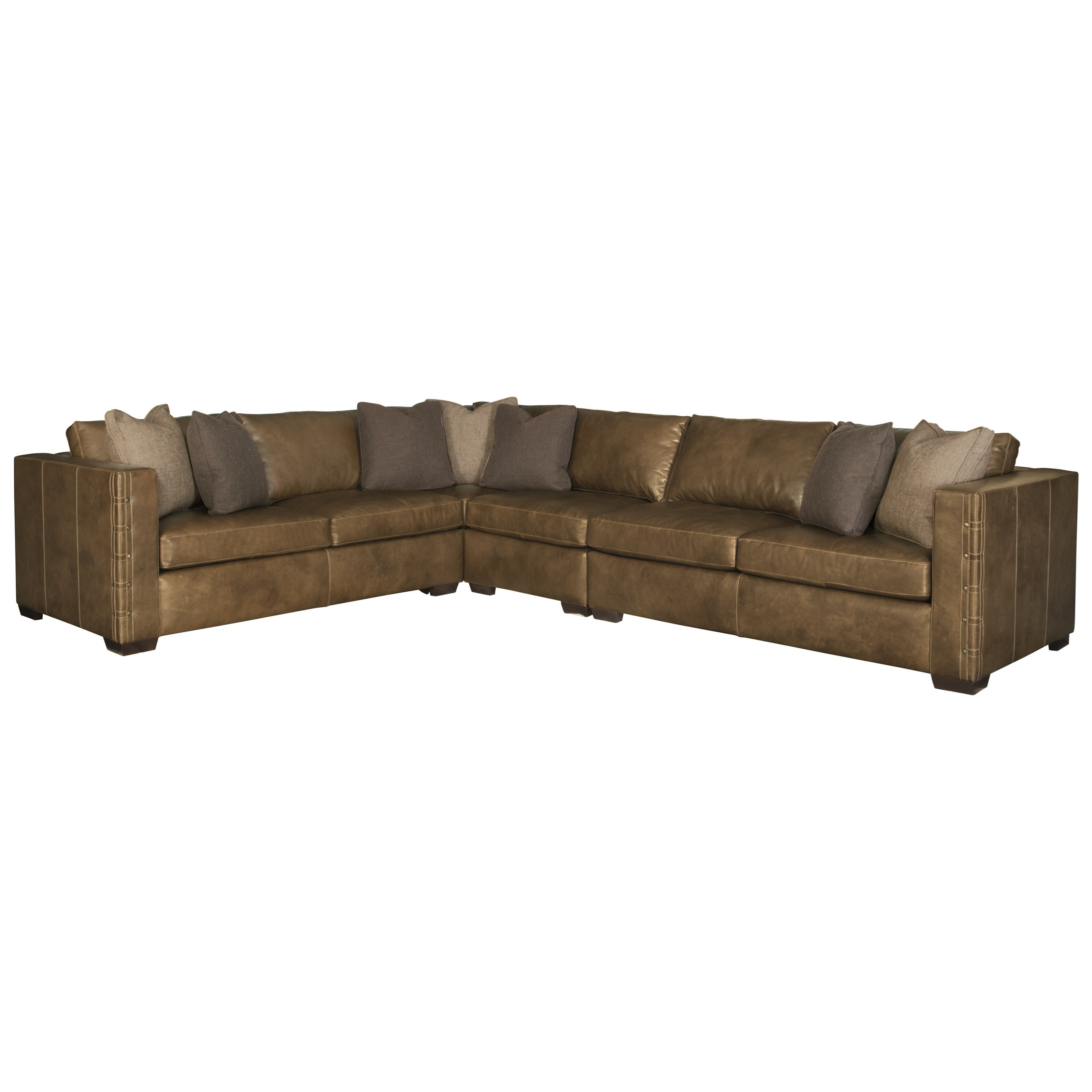 Bernhardt Galloway Sectional Sofa - Item Number: 2342L+32L+30L+41L