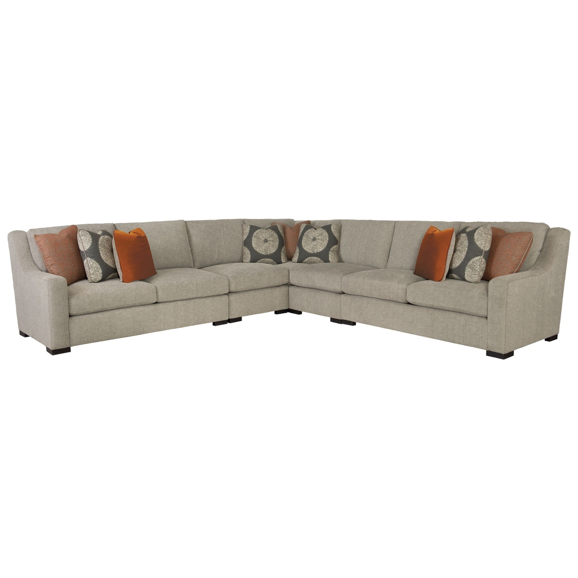Contemporary Sectional: Bernhardt Germain Contemporary Sectional With Spring Down