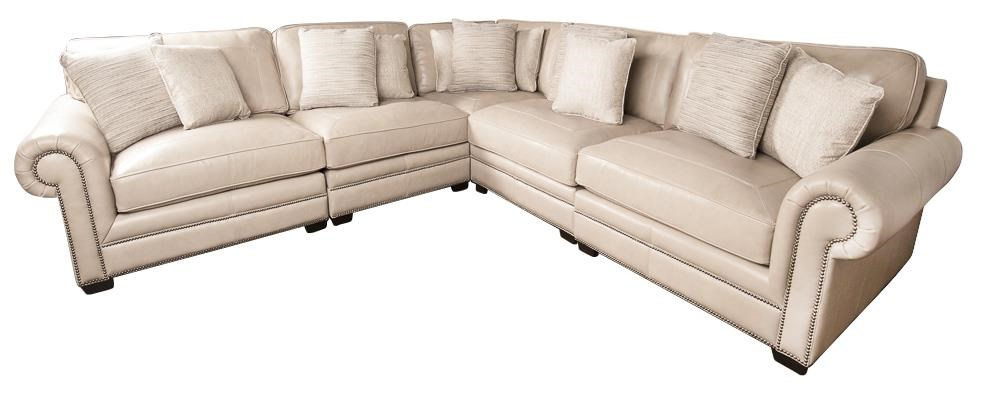 Grandview Grandview 100% Leather Sectional Sofa by Bernhardt at Morris Home