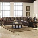 Bernhardt Grandview 5 PieceTraditional Sectional Sofa - Shown in Living Room Setting
