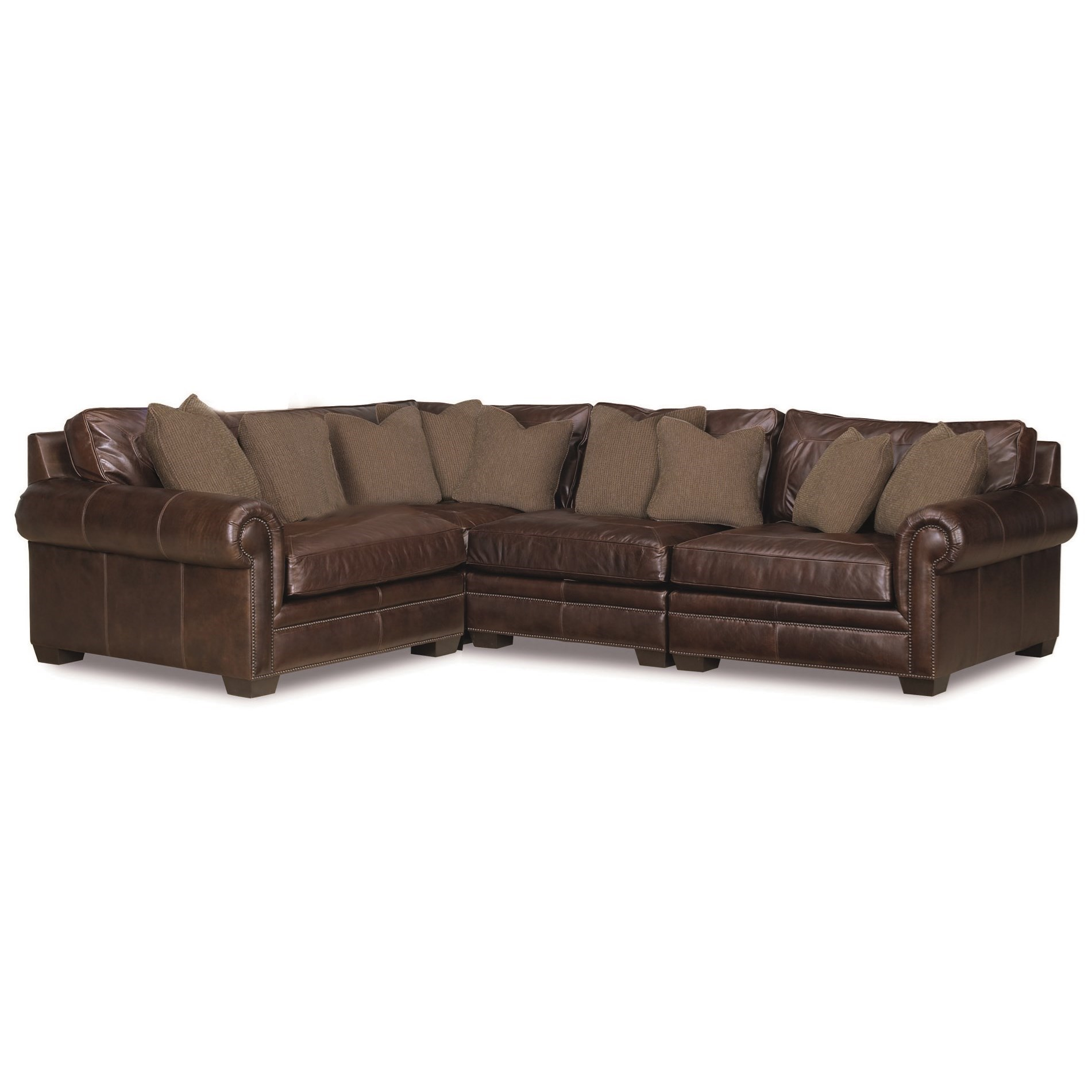 Bernhardt Grandview 4 Pc Sectional Sofa - Item Number: 7336L+7330L+7332L+7335L 229-022