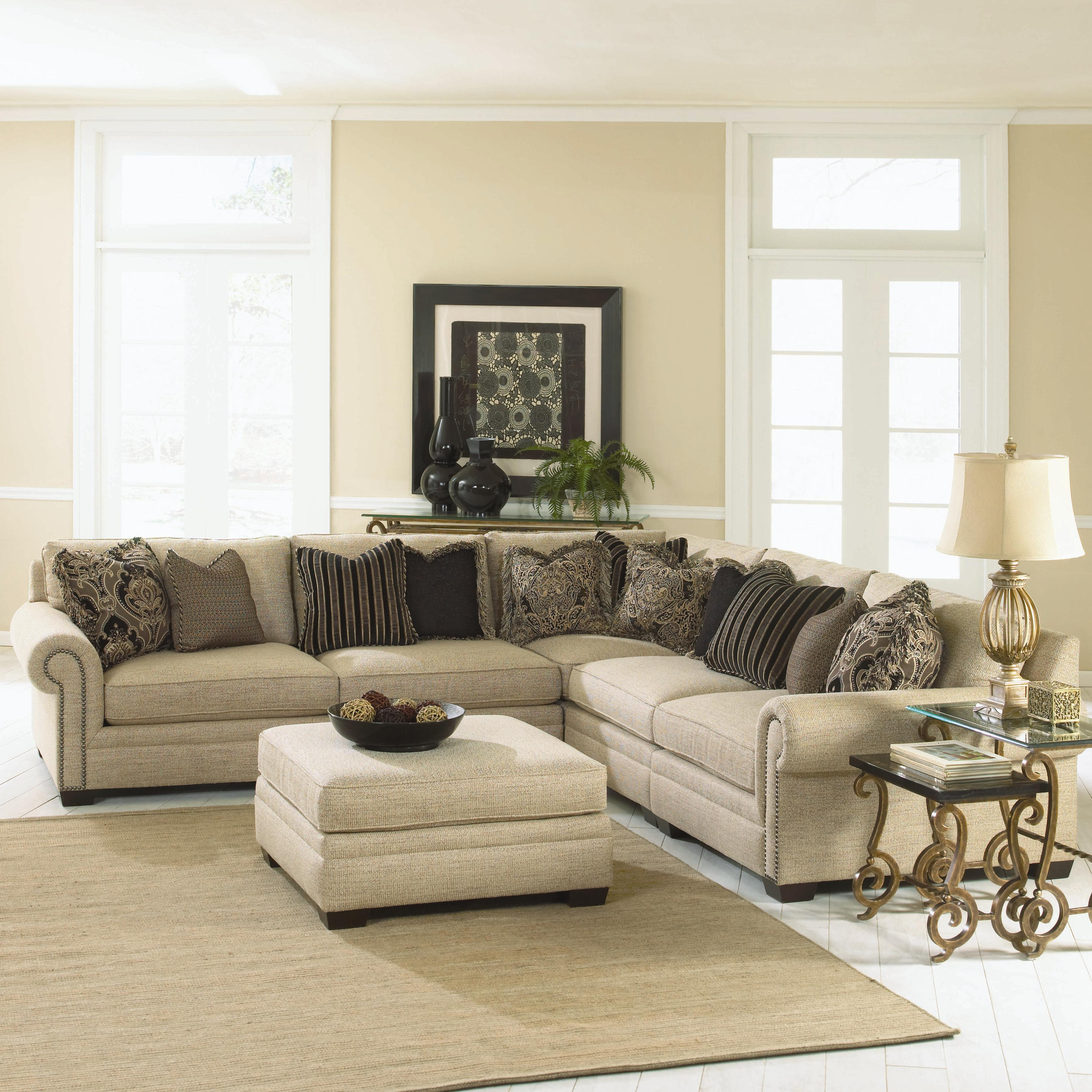 Bernhardt Grandview 5 Piece Traditional Sectional Sofa Story Amp Lee Furniture Sectional Sofas