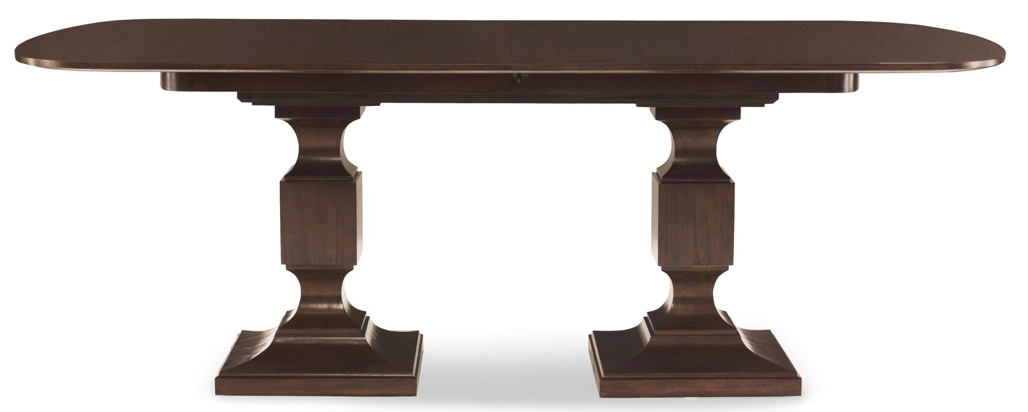Bernhardt Haven Double Pedestal Dining Table With 2 Leaves