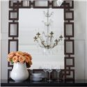 Bernhardt Haven Wood-Framed Mirror with Fretwork