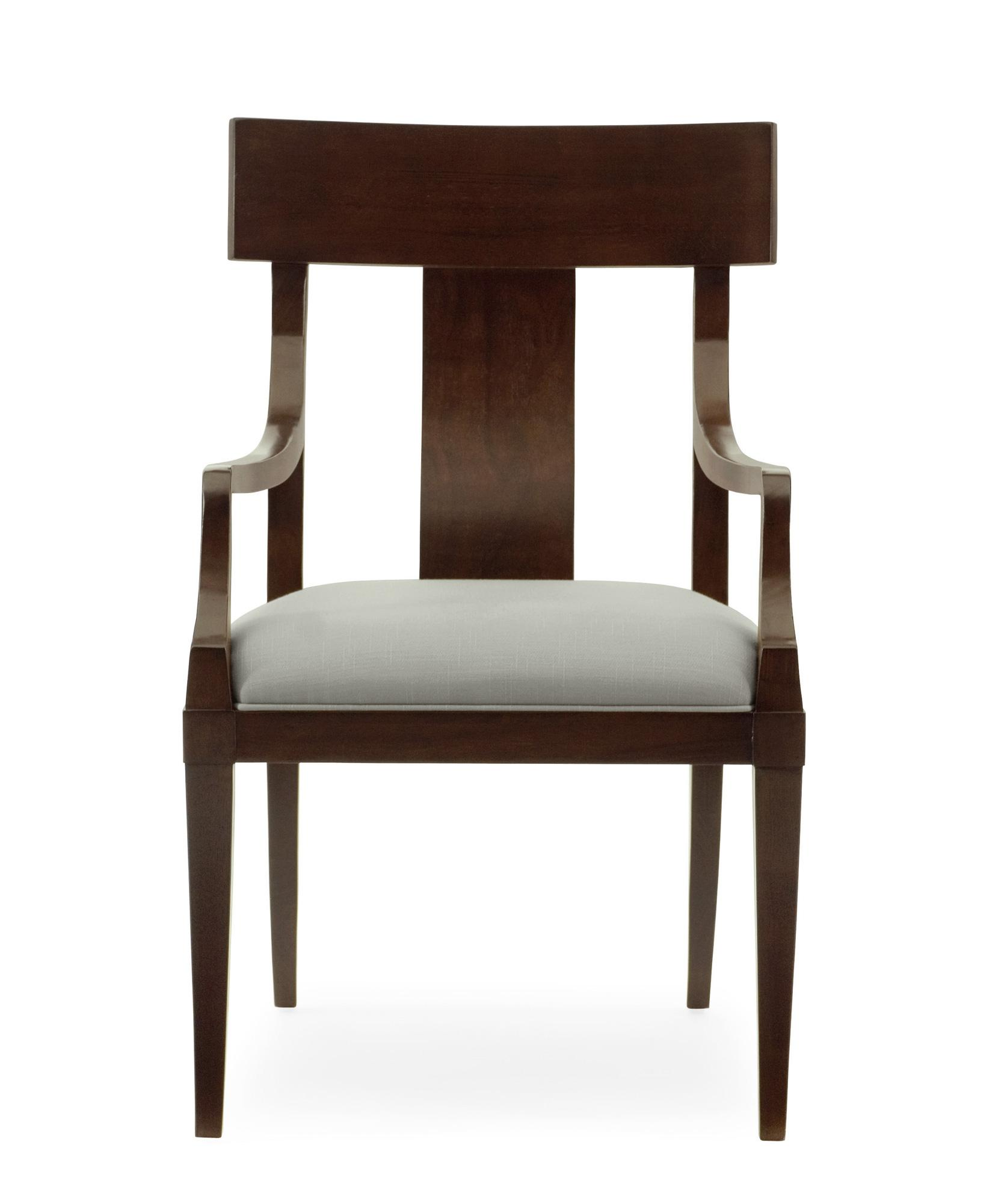 Bernhardt Haven 346 502 Arm Chair With Upholstered Seat