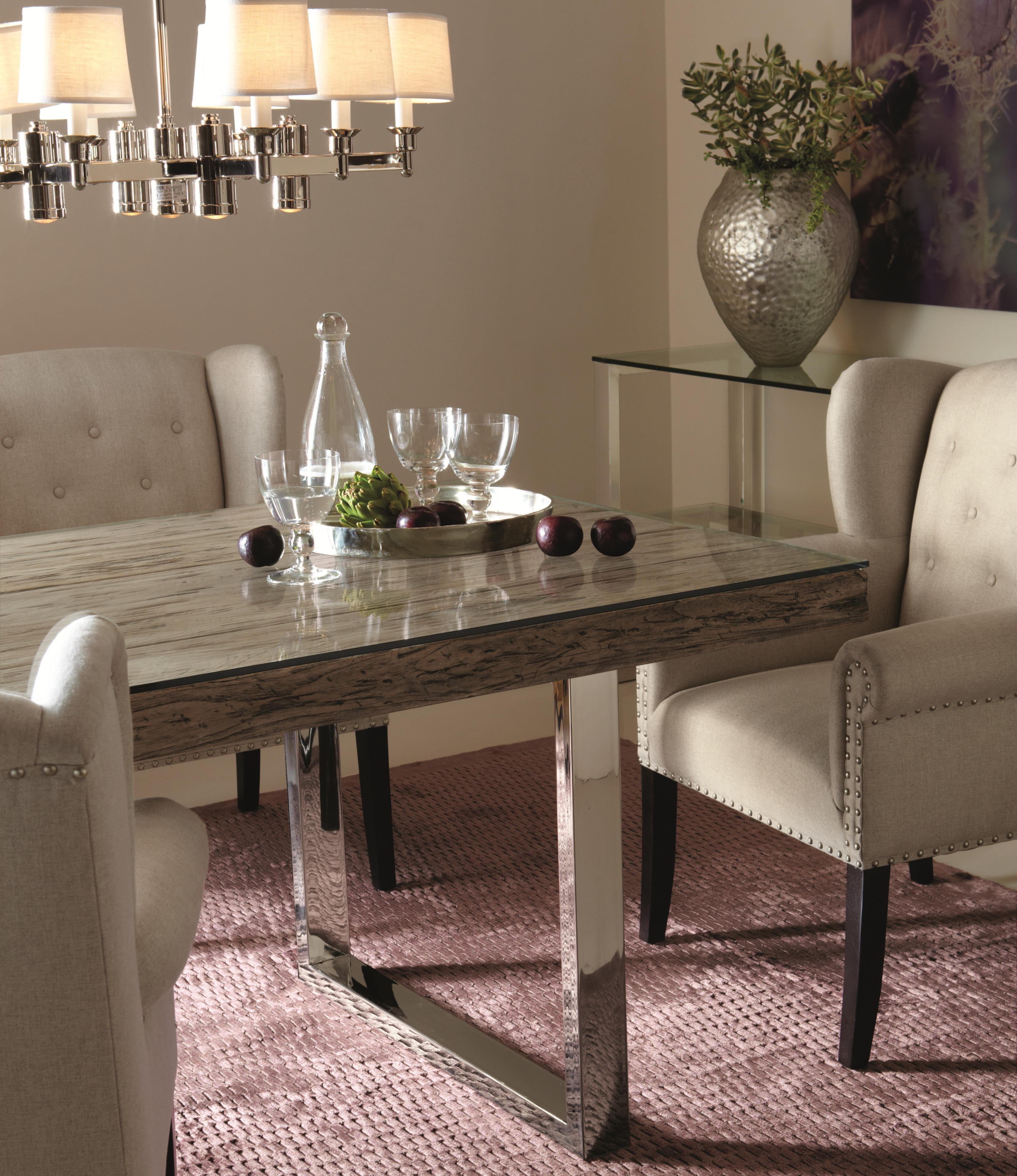 Bernhardt Henley Rustic Modern Dining Table 84