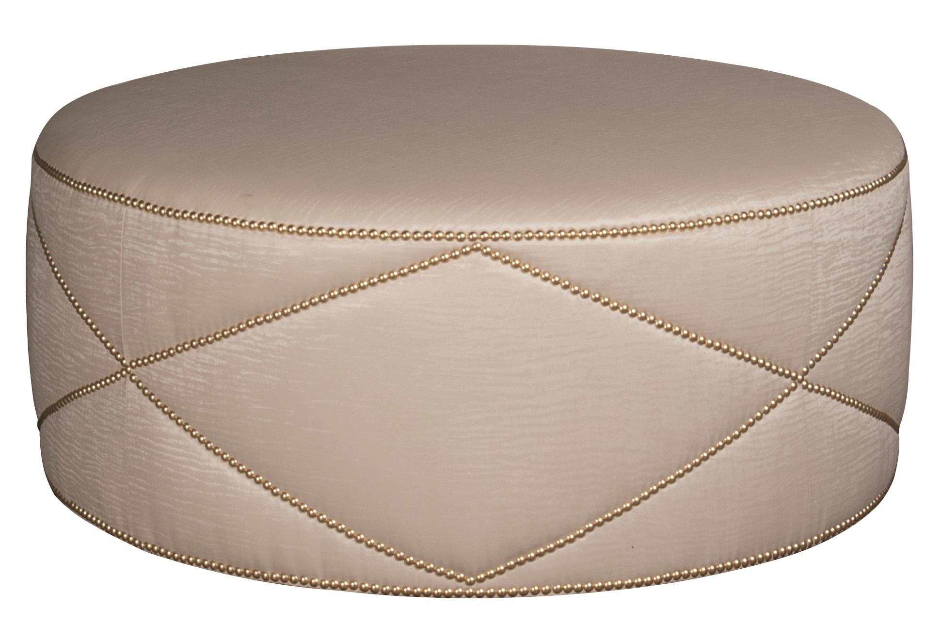 Bernhardt Highland Place Highland Place Round Cocktail Ottoman - Item Number: 116113589