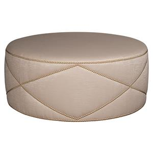 Bernhardt Highland Place Highland Place Round Cocktail Ottoman