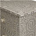 Bernhardt Interiors - Accents Hatha 4 Drawer Cabinet with Bone Inlay Design - Patterned Bone Inlay Design Emanates Fauna
