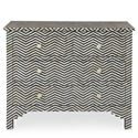 Bernhardt Interiors - Accents Herringbone 4 Drawer Cabinet with Patterned Bone Inlay
