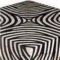 Bernhardt Interiors - Accents Zebra Cube with Patterned Bone Inlay Design - Patterned Bone Inlay Design
