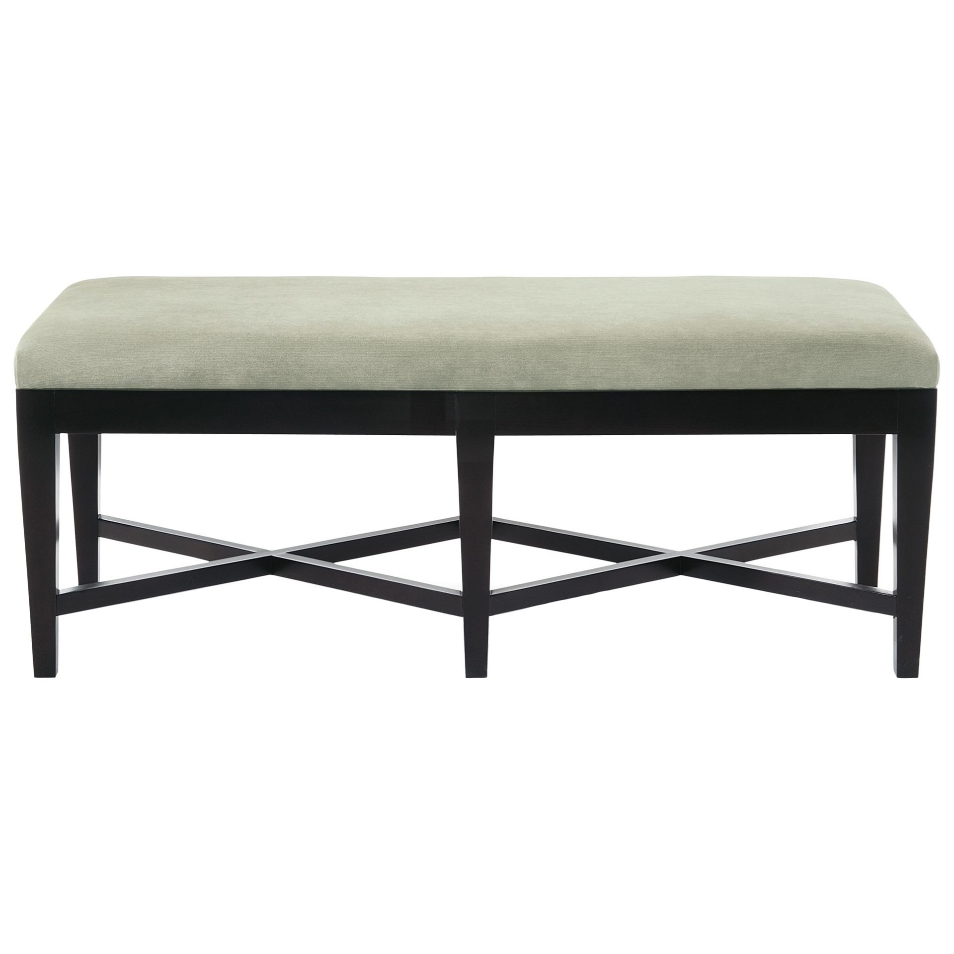 Interiors - Accents Leather Kendall Bench by Bernhardt at Baer's Furniture