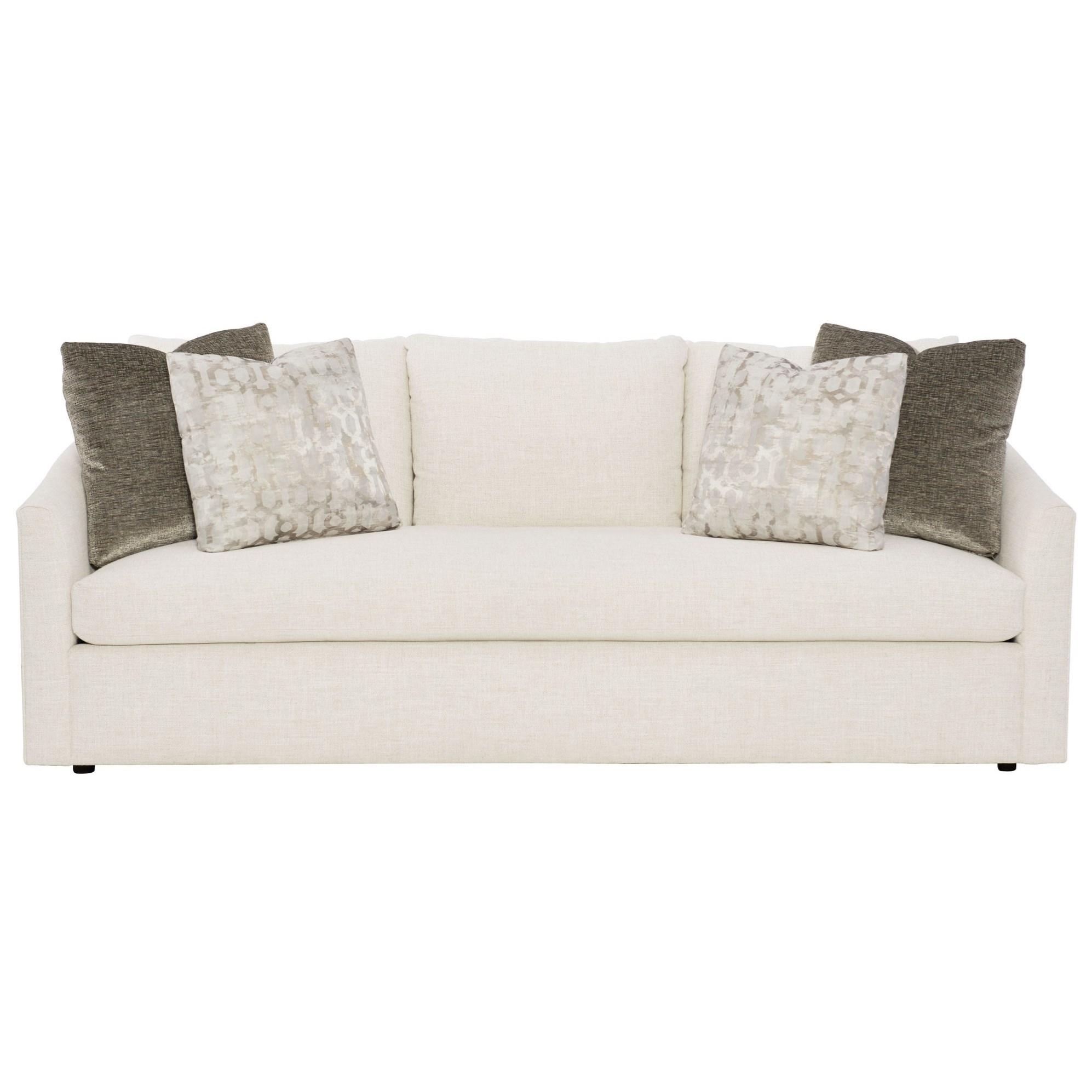 Bernhardt Interiors - Astoria Contemporary Sofa with Bench ...