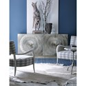 Bernhardt Interiors - Barcelona German Silver Wrapped Credenza