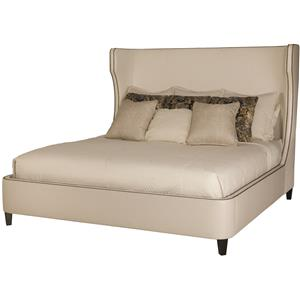 Bernhardt Interiors - Beds Wheeling Queen Upholstered Bed