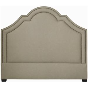 Bernhardt Interiors - Beds Queen Madison Crown Top Headboard