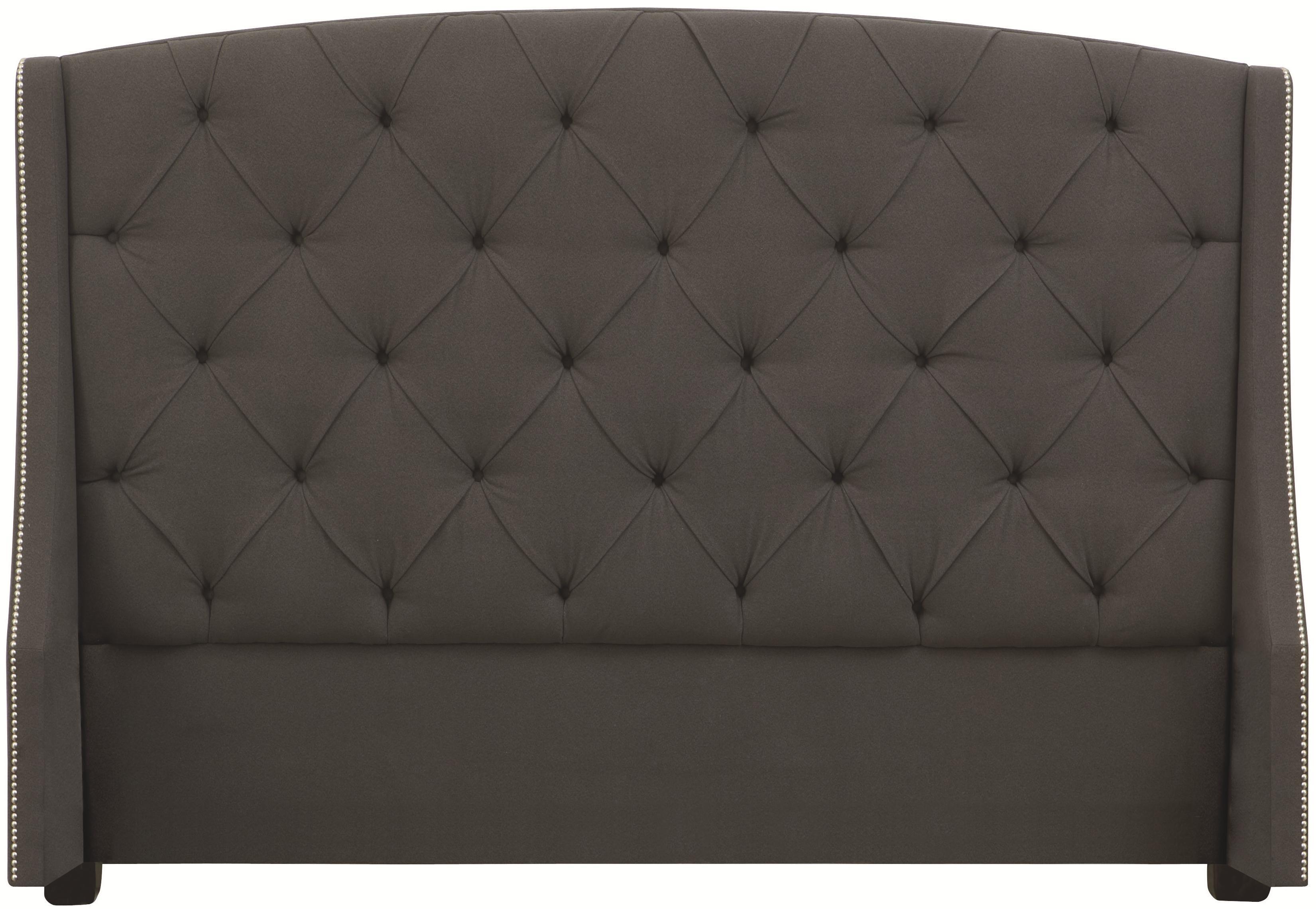 Bernhardt Interiors - Beds King Jordan Button-Tufted Wing Headboard - Item Number: 758-H66H