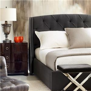 Bernhardt Interiors - Beds Queen Jordan Button-Tufted Wing Headboard