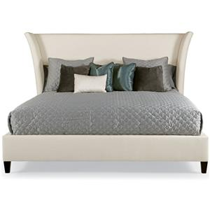 Bernhardt Interiors - Beds Queen Sienna Flare Upholstered Bed
