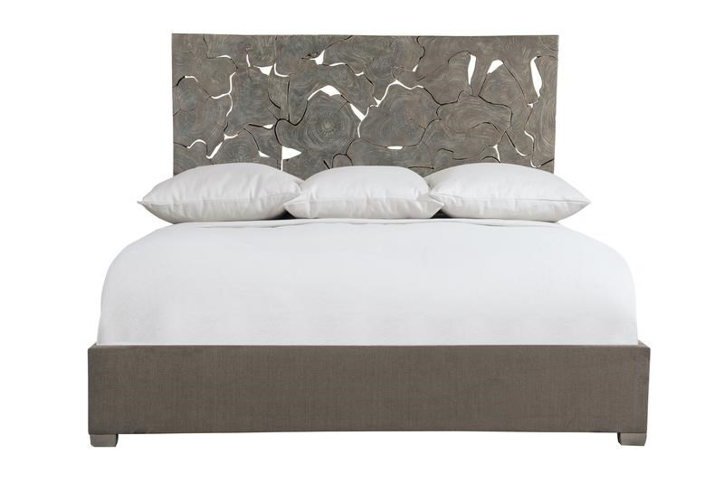 Interiors - Calavaras Laminated Teak Panel Bed by Bernhardt at Darvin Furniture