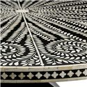 Bernhardt Interiors - Dining Barnsley Round Dining Table with Patterned Bone Inlay Top - Detail View of Patterned Bone Inlay Top