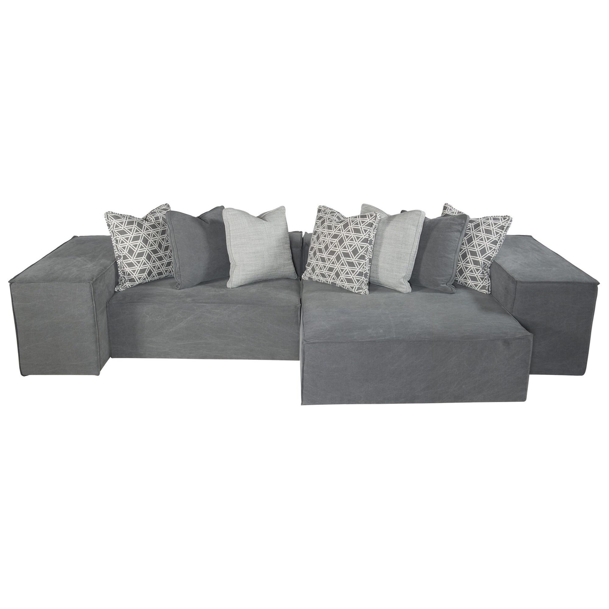 Bernhardt Interiors Format Six Piece Modern Modular Sectional Sofa Belfort Furniture Sectional Sofas