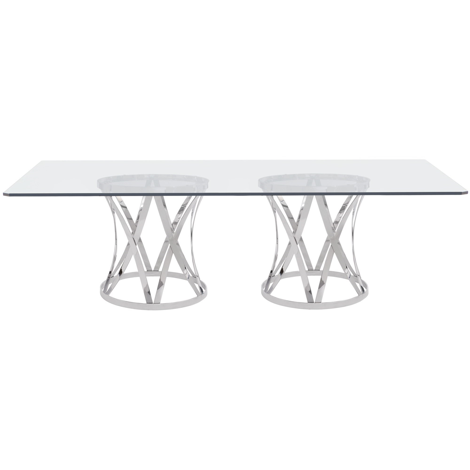 Bernhardt Interiors Gustav 326 1050 330 774 Contemporary Rectangular Dining Table With Glass Top Baer S Furniture Dining Tables