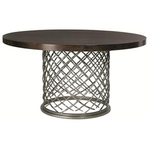 Hallam Metal Table with Wood Top (54