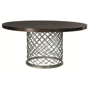 Hallam Metal Table with Wood Top (60