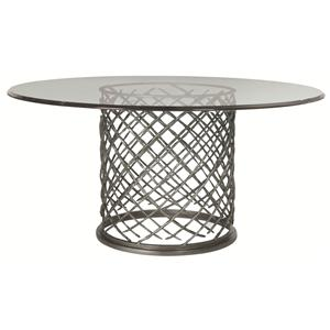 "Bernhardt Hallam Hallam Metal Table with Glass Top (60"")"