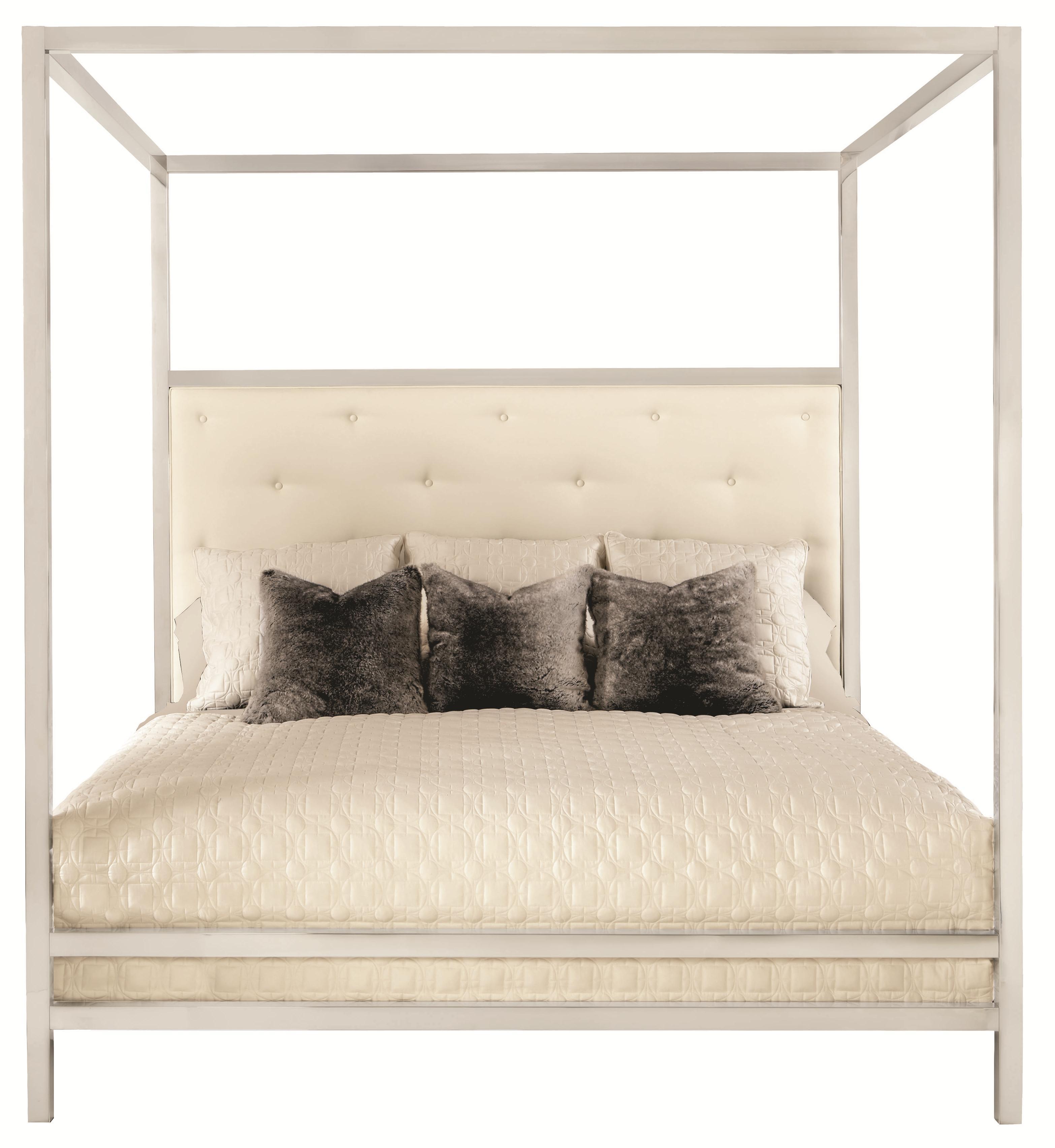 Bernhardt Landon Landon Metal Queen Poster Bed with Modern Art Style ...
