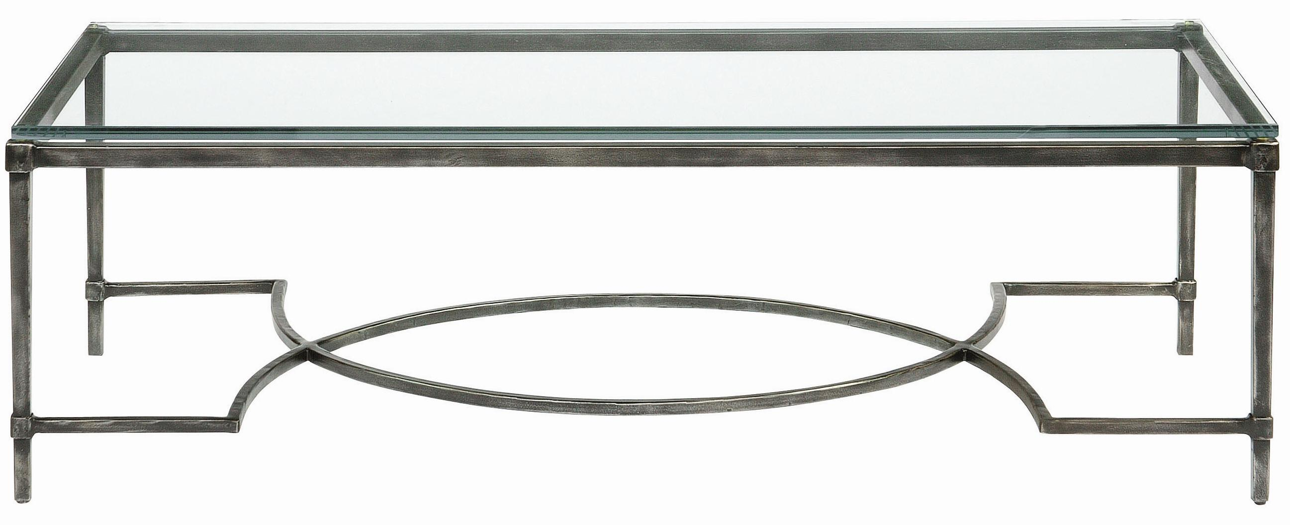 Bernhardt Interiors - Accents Palmer Metal Cocktail Table - Item Number: 320-021+021G