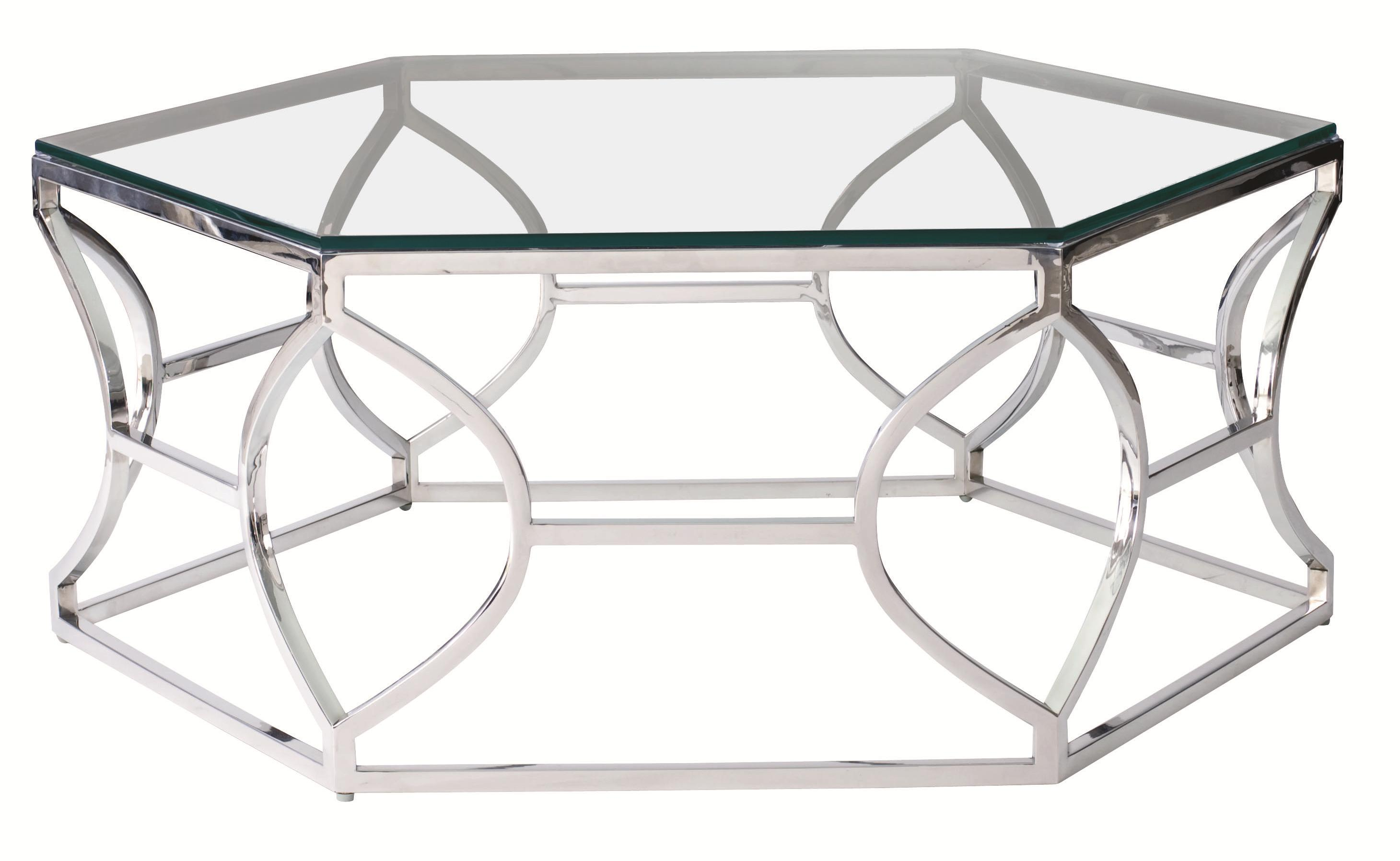 Argent Metal Cocktail Table