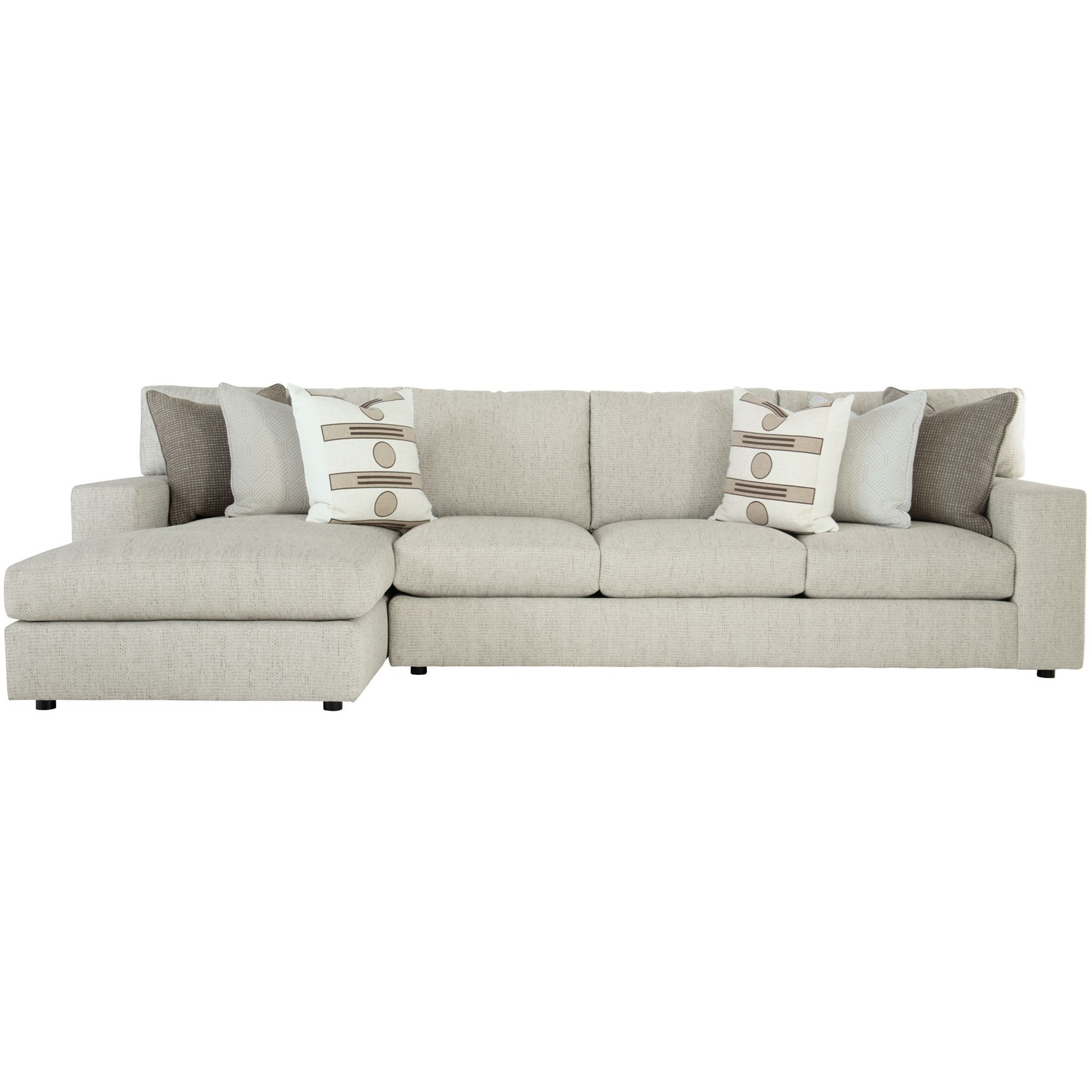 Remarkable Bernhardt Interiors Rawls Contemporary Sectional With Home Interior And Landscaping Ponolsignezvosmurscom