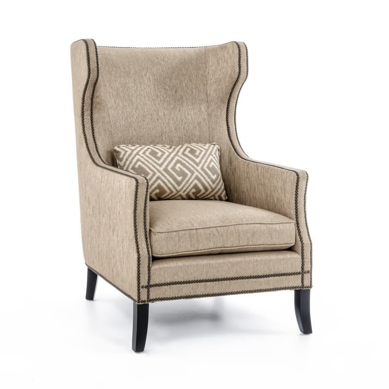 Bernhardt Interiors - Chairs Kingston Contemporary Wing Chair ...