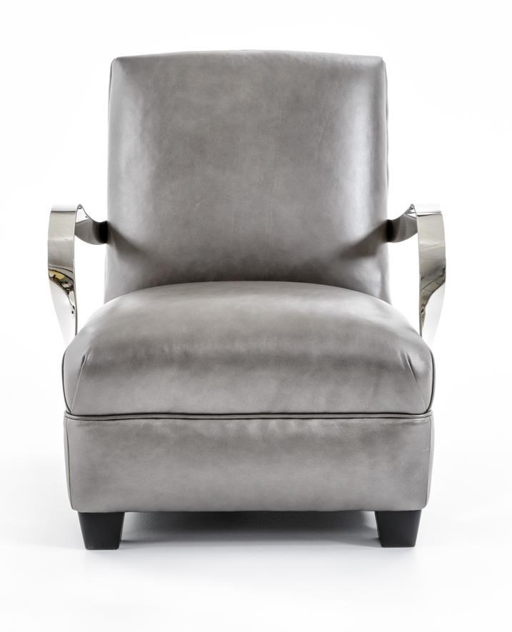 Bernhardt Interiors-Chairs Markham Leather Chair - Item Number: N6312 202-010L6