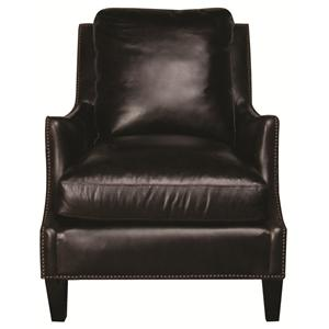 Bernhardt Isaac Isaac 100% Leather Chair