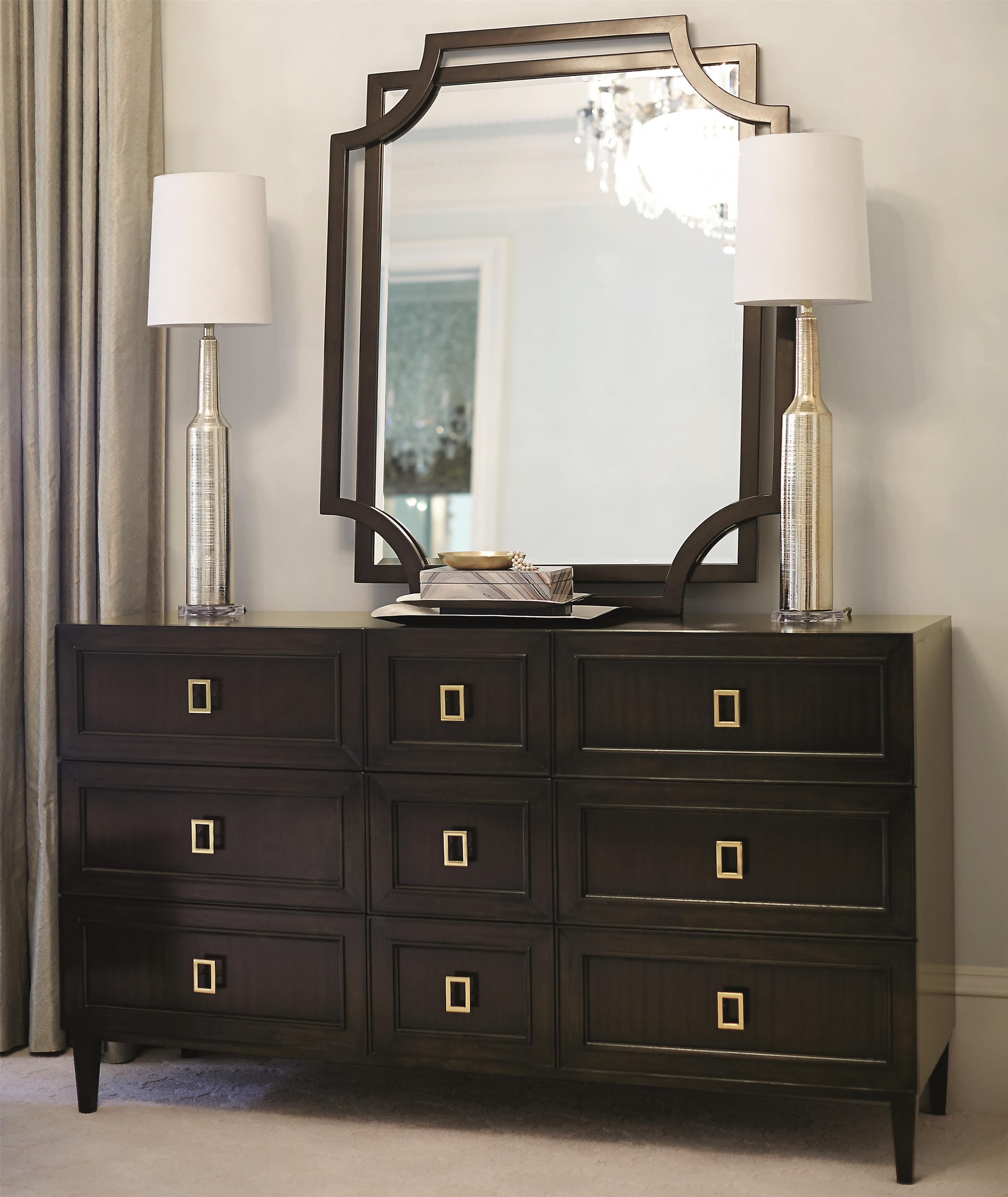Bernhardt Jet Set Dresser and Mirror Set - Item Number: 356-053+321