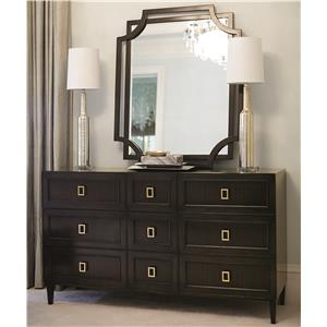 Bernhardt Jet Set Dresser and Mirror Set