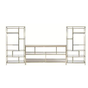 Bernhardt Jet Set Entertainment Console with Piers
