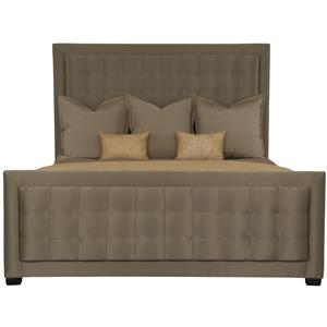 Bernhardt Jet Set Queen Upholstered Panel Bed