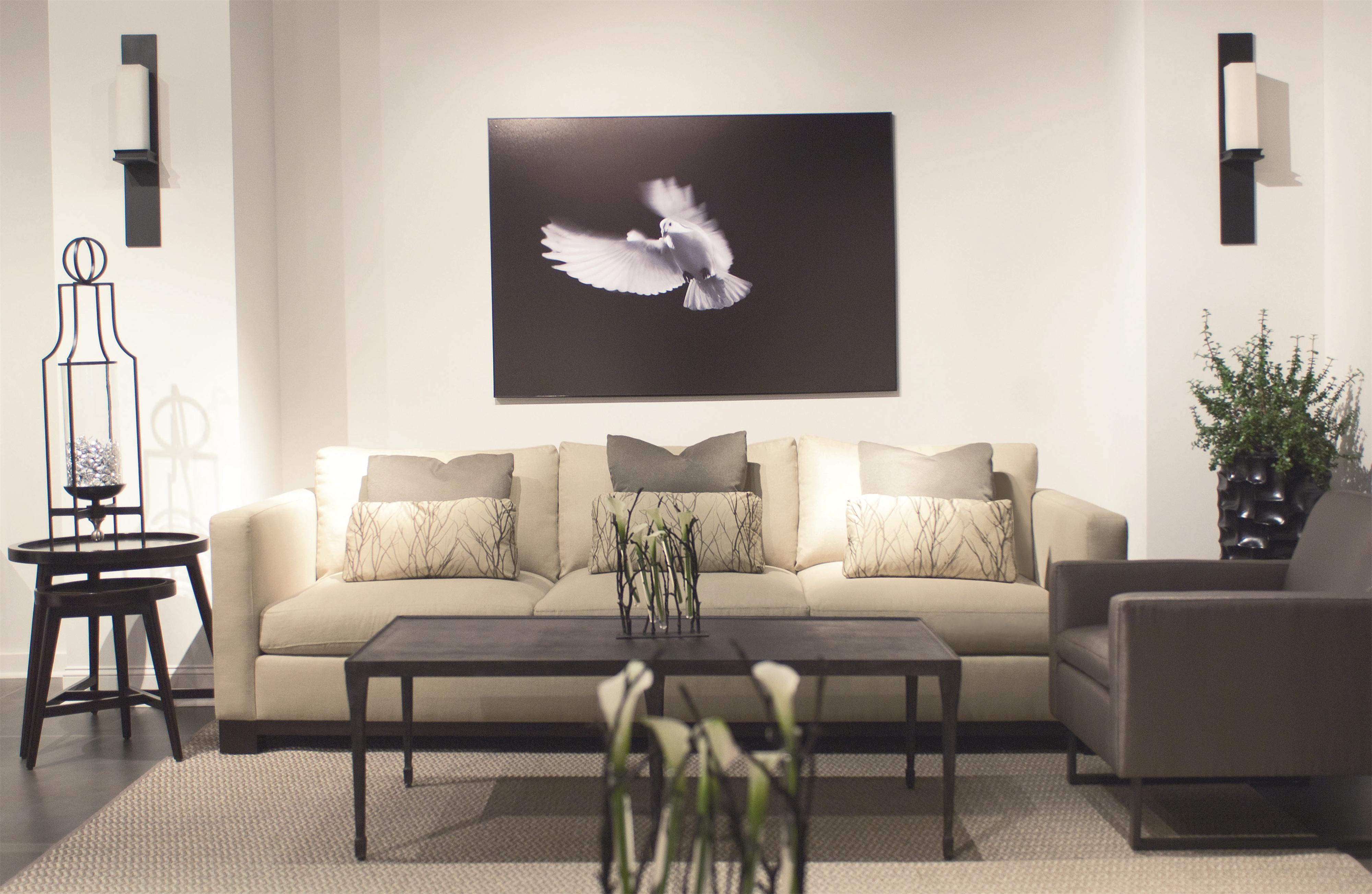 Bernhardt Lanai Modern Styled Sofa With Slight Asian Influence In Standard Sofa Size Belfort