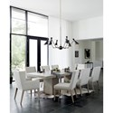 Bernhardt Linea 9-Piece Table and Chair Set - Item Number: 384-242G+244G+2x548G+6x547G