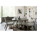 Bernhardt Linea 5-Piece Table and Chair Set - Item Number: 384-272B+273B+4x542B
