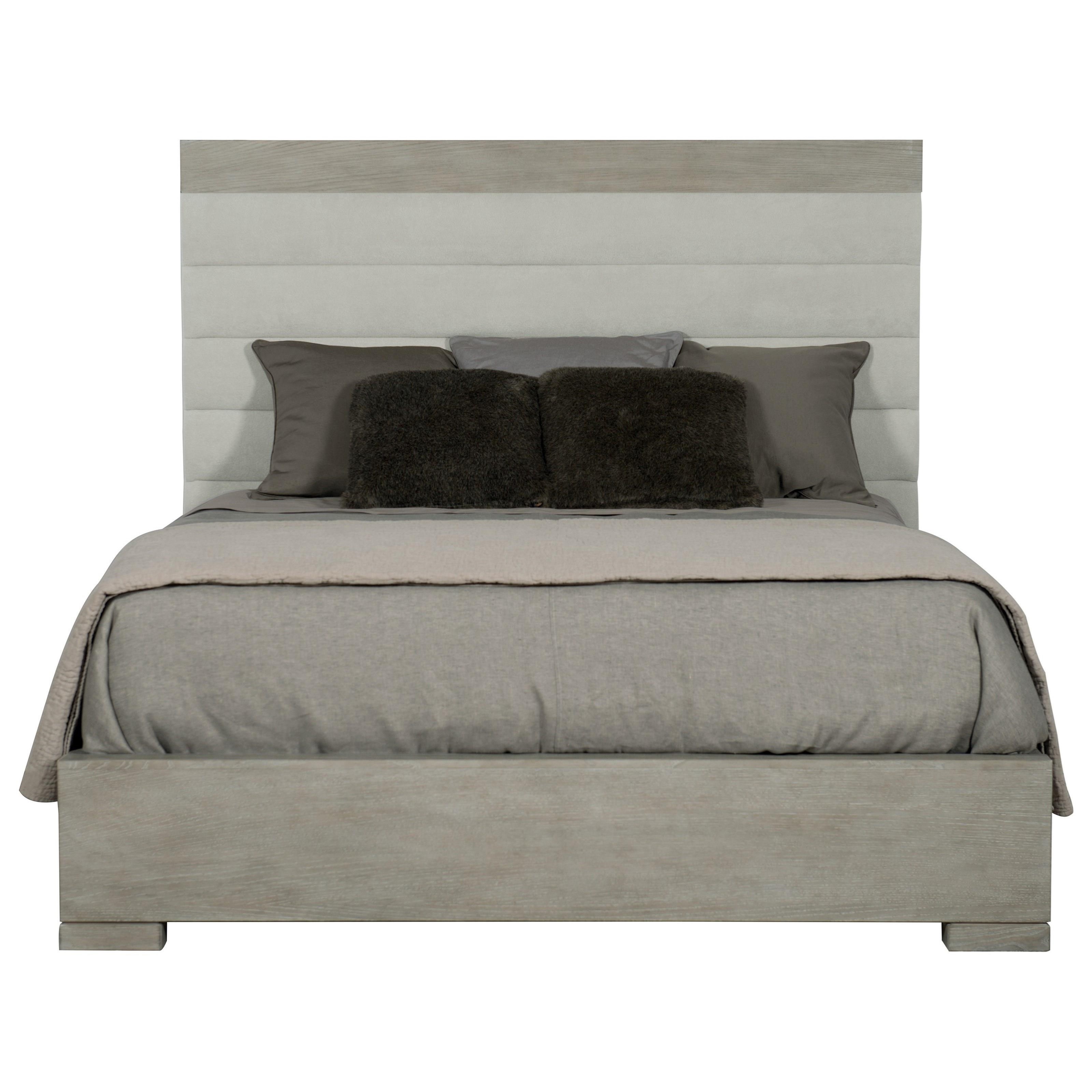 King Upholstered Channel Bed