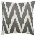 "Bernhardt Luxe Pillows Embroidered Flame Stitch (21.5"" x 21.5"") - Item Number: LP135"